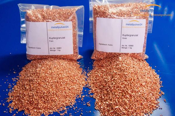 copper granules - raw